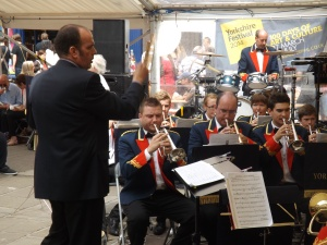York Railway Institute Band in Parliament Street